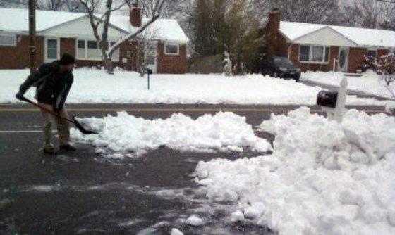 tommy shoveling