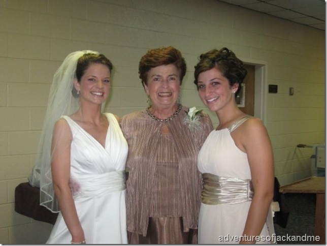 Granny and us wedding