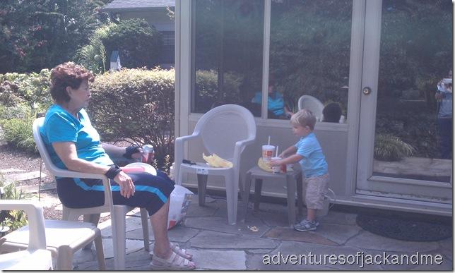 picnic with granny
