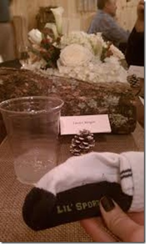 rehearsal dinner sock