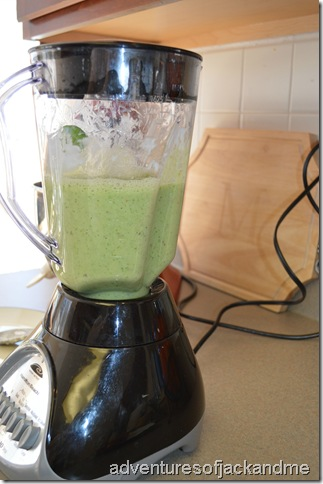 green smoothie in blender
