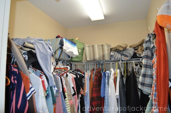 Closet Before Full Picture Closet Before
