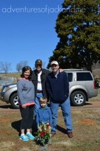 Grandfather and family