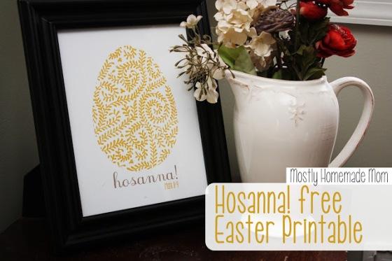 easter Hosanna free Easter printable 1