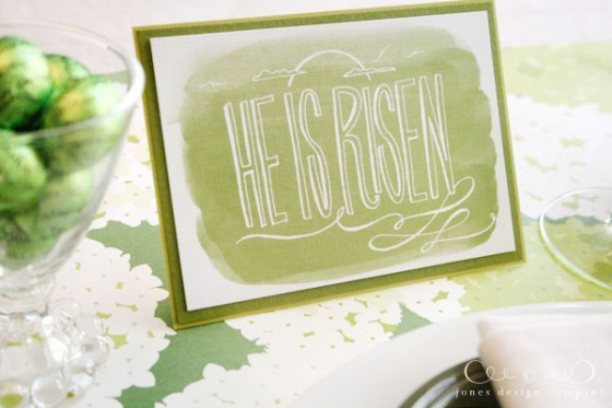 easter risen-green