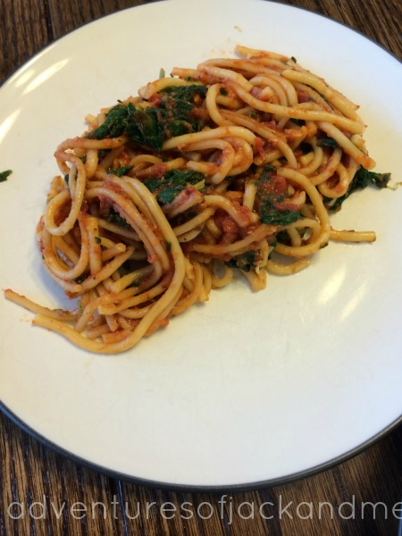 spinach chicken spaghetti