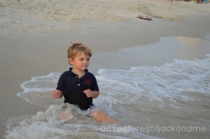 JT at the beach